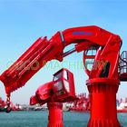 5T20M Folding Boom Crane , Offshore Pedestal Crane ABS Certificated